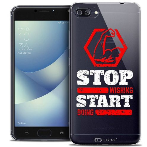 "Coque Crystal Gel Asus Zenfone 4 MAX PLUS / Pro ZC554KL (5.5"") Extra Fine Quote - Start Doing"