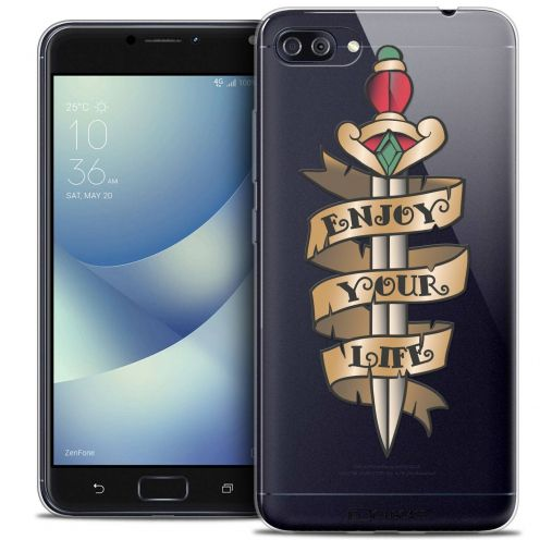 "Coque Crystal Gel Asus Zenfone 4 MAX PLUS / Pro ZC554KL (5.5"") Extra Fine Tatoo Lover - Enjoy Life"