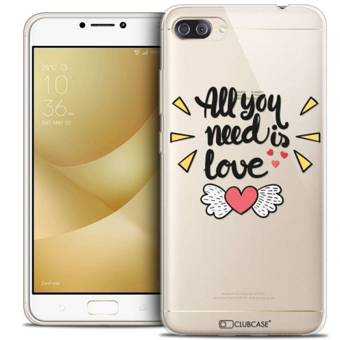 "Coque Crystal Gel Asus Zenfone 4 MAX PLUS / Pro ZC554KL (5.5"") Extra Fine Love - All U Need Is"