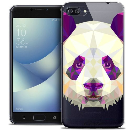 "Coque Crystal Gel Asus Zenfone 4 MAX PLUS / Pro ZC554KL (5.5"") Extra Fine Polygon Animals - Panda"