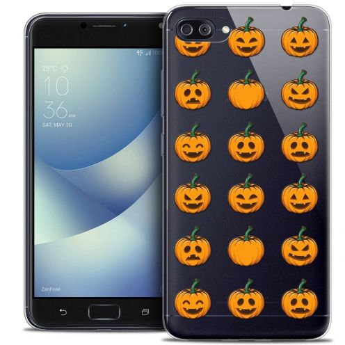 "Coque Crystal Gel Asus Zenfone 4 MAX PLUS / Pro ZC554KL (5.5"") Extra Fine Halloween - Smiley Citrouille"