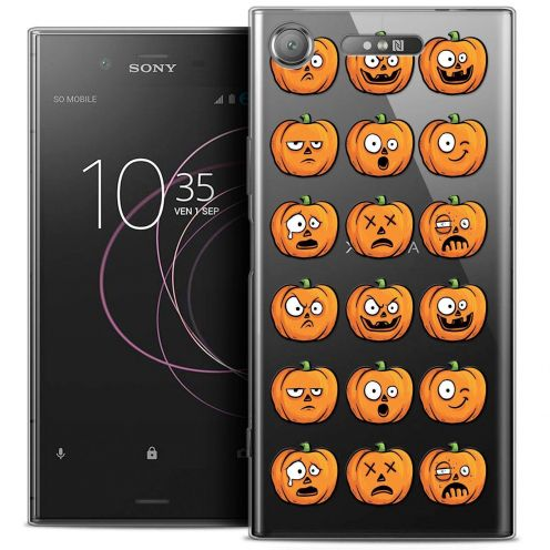 "Coque Crystal Gel Sony Xperia XZ1 (5.2"") Extra Fine Halloween - Cartoon Citrouille"