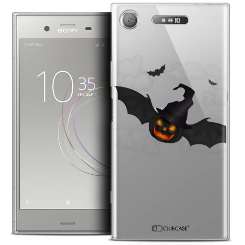 "Coque Crystal Gel Sony Xperia XZ1 (5.2"") Extra Fine Halloween - Chauve Citrouille"
