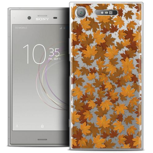 "Coque Crystal Gel Sony Xperia XZ1 (5.2"") Extra Fine Autumn 16 - Feuilles"