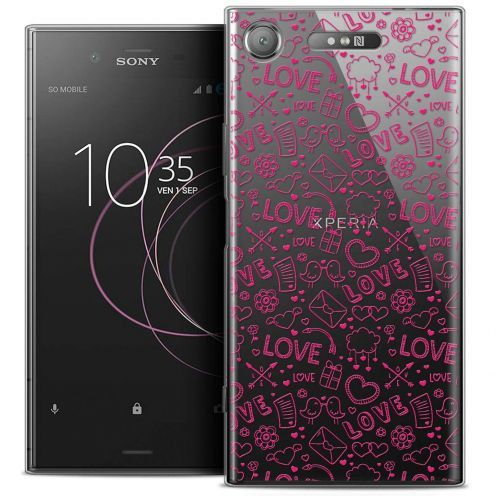 "Coque Crystal Gel Sony Xperia XZ1 (5.2"") Extra Fine Love - Doodle"