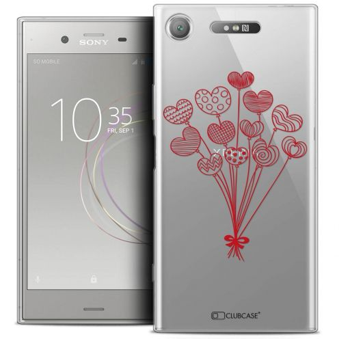 "Coque Crystal Gel Sony Xperia XZ1 (5.2"") Extra Fine Love - Ballons d'amour"