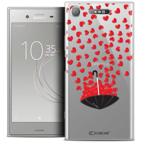 "Coque Crystal Gel Sony Xperia XZ1 (5.2"") Extra Fine Love - Parapluie d'Amour"