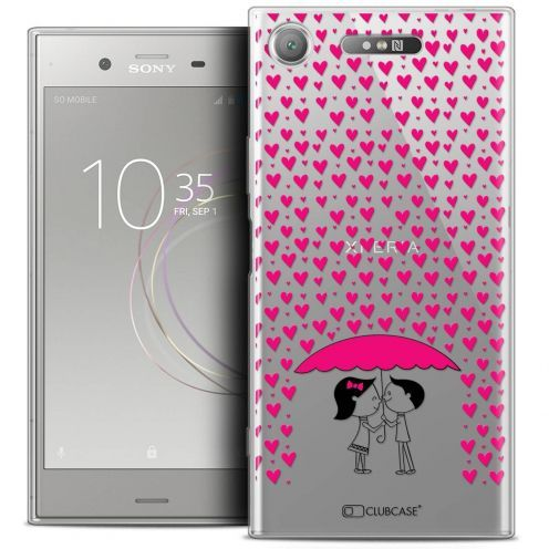 """Coque Crystal Gel Sony Xperia XZ1 (5.2"""") Extra Fine Love - Pluie d'Amour"""