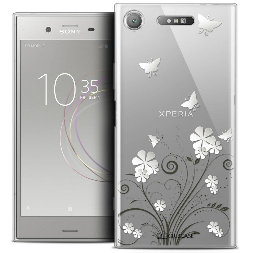 """Coque Crystal Gel Sony Xperia XZ1 (5.2"""") Extra Fine Summer - Papillons"""