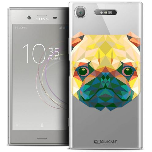 "Coque Crystal Gel Sony Xperia XZ1 (5.2"") Extra Fine Polygon Animals - Chien"