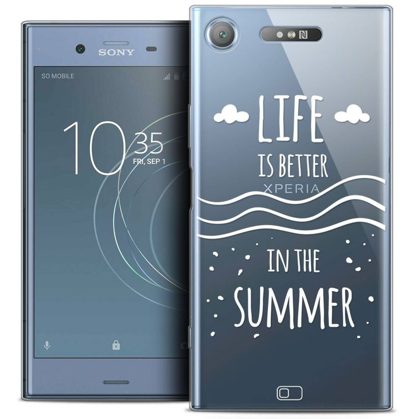 """Coque Crystal Gel Sony Xperia XZ1 (5.2"""") Extra Fine Summer - Life's Better"""