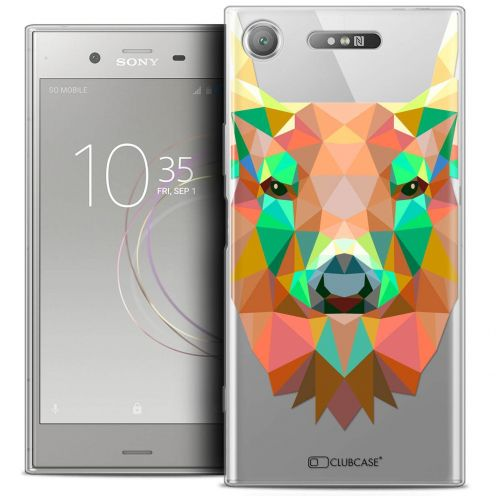 "Coque Crystal Gel Sony Xperia XZ1 (5.2"") Extra Fine Polygon Animals - Cerf"