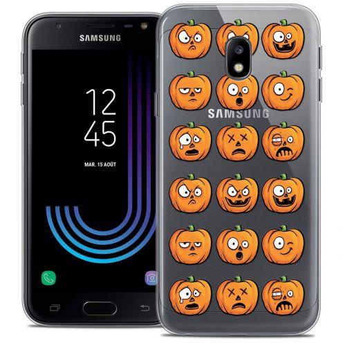 "Coque Crystal Gel Samsung Galaxy J3 2017 J320 (5"") Extra Fine Halloween - Cartoon Citrouille"