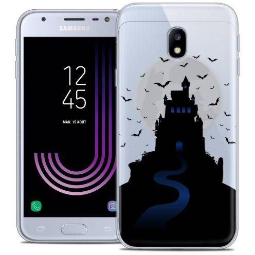 "Coque Crystal Gel Samsung Galaxy J3 2017 J320 (5"") Extra Fine Halloween - Castle Nightmare"