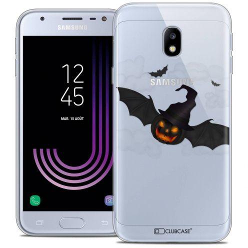 "Coque Crystal Gel Samsung Galaxy J3 2017 J320 (5"") Extra Fine Halloween - Chauve Citrouille"