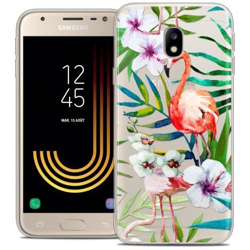 """Coque Crystal Gel Samsung Galaxy J3 2017 J320 (5"""") Extra Fine Watercolor - Tropical Flamingo"""