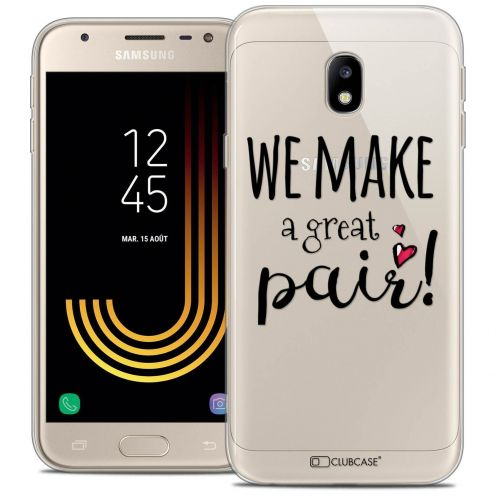 "Coque Crystal Gel Samsung Galaxy J3 2017 J320 (5"") Extra Fine Love - We Make Great Pair"
