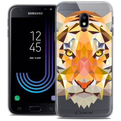"Coque Crystal Gel Samsung Galaxy J3 2017 J320 (5"") Extra Fine Polygon Animals - Tigre"