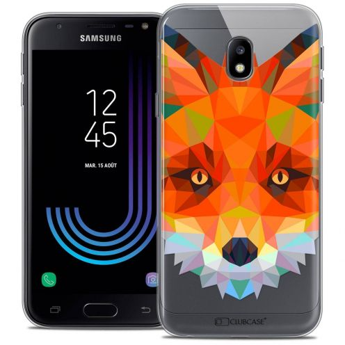 "Coque Crystal Gel Samsung Galaxy J3 2017 J320 (5"") Extra Fine Polygon Animals - Renard"