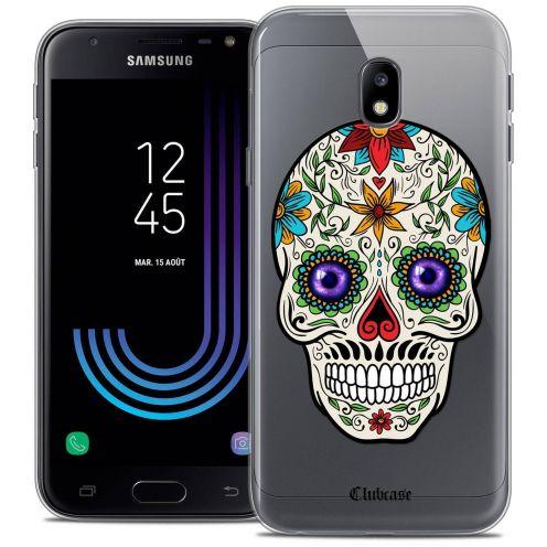 "Coque Crystal Gel Samsung Galaxy J3 2017 J320 (5"") Extra Fine Skull - Maria's Flower"