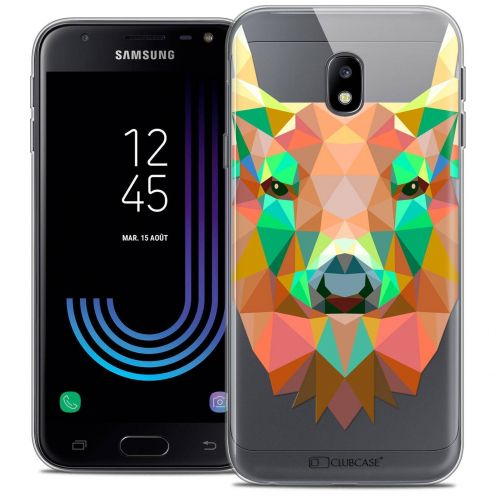 "Coque Crystal Gel Samsung Galaxy J3 2017 J320 (5"") Extra Fine Polygon Animals - Cerf"