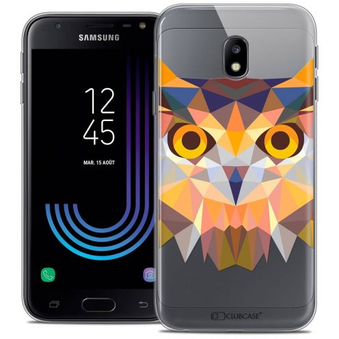 "Coque Crystal Gel Samsung Galaxy J3 2017 J320 (5"") Extra Fine Polygon Animals - Hibou"
