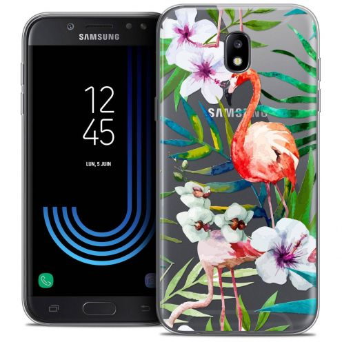 "Coque Crystal Gel Samsung Galaxy J5 2017 J530 (5.2"") Extra Fine Watercolor - Tropical Flamingo"
