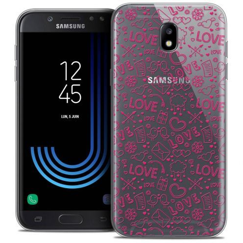 "Coque Crystal Gel Samsung Galaxy J5 2017 J530 (5.2"") Extra Fine Love - Doodle"