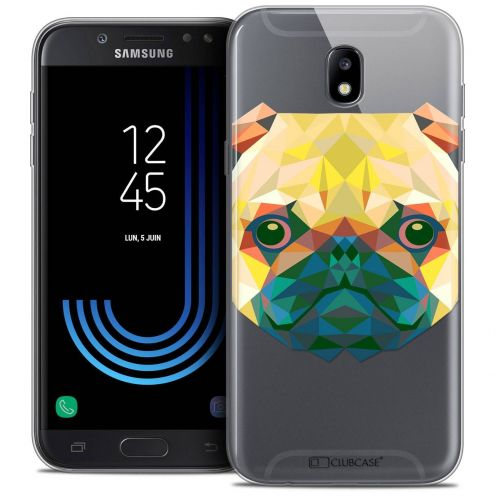 "Coque Crystal Gel Samsung Galaxy J5 2017 J530 (5.2"") Extra Fine Polygon Animals - Chien"