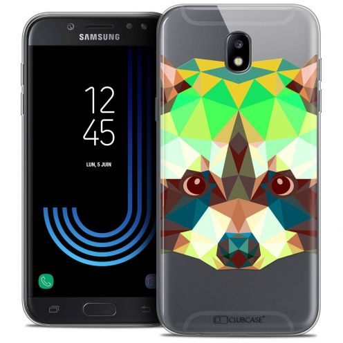 "Coque Crystal Gel Samsung Galaxy J5 2017 J530 (5.2"") Extra Fine Polygon Animals - Raton Laveur"