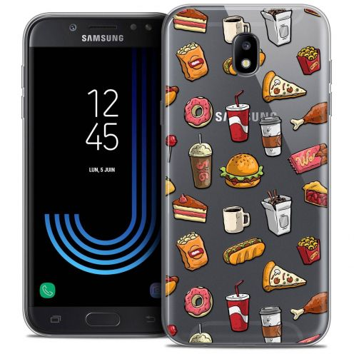 "Coque Crystal Gel Samsung Galaxy J7 2017 J730 (5.5"") Extra Fine Foodie - Fast Food"