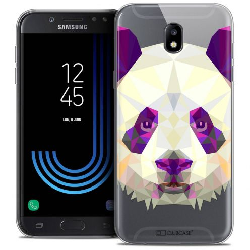 "Coque Crystal Gel Samsung Galaxy J7 2017 J730 (5.5"") Extra Fine Polygon Animals - Panda"
