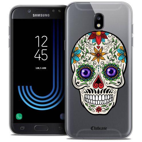 "Coque Crystal Gel Samsung Galaxy J7 2017 J730 (5.5"") Extra Fine Skull - Maria's Flower"