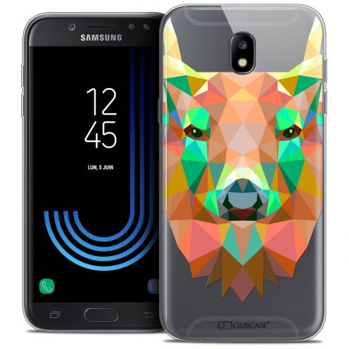 "Coque Crystal Gel Samsung Galaxy J7 2017 J730 (5.5"") Extra Fine Polygon Animals - Cerf"