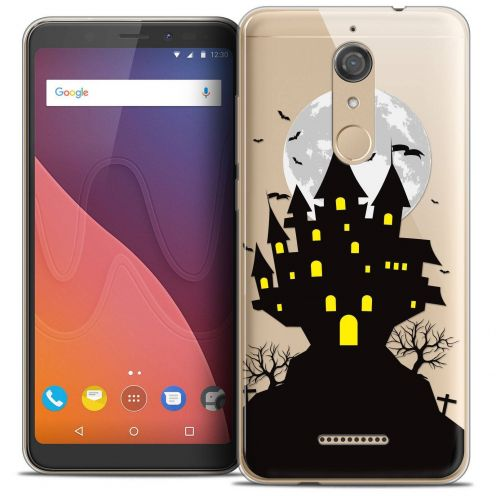 "Coque Crystal Gel Wiko View (5.7"") Extra Fine Halloween - Castle Scream"