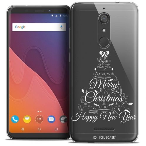 """Coque Crystal Gel Wiko View (5.7"""") Extra Fine Noël 2017 - Calligraphie"""