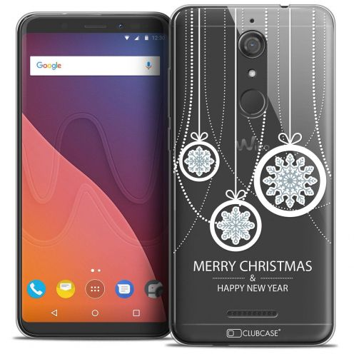 """Coque Crystal Gel Wiko View (5.7"""") Extra Fine Noël 2017 - Christmas Balls"""