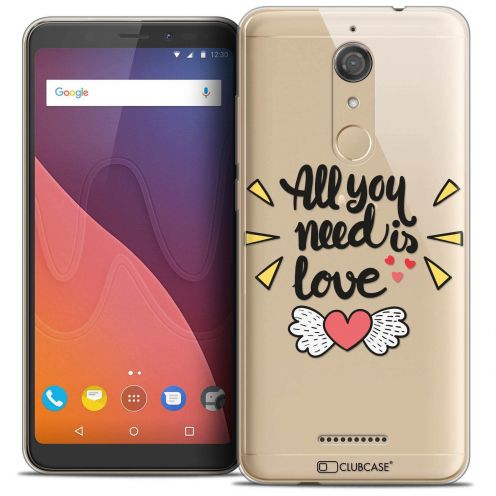 "Coque Crystal Gel Wiko View (5.7"") Extra Fine Love - All U Need Is"