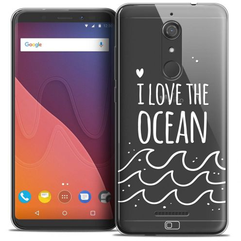 "Coque Crystal Gel Wiko View (5.7"") Extra Fine Summer - I Love Ocean"