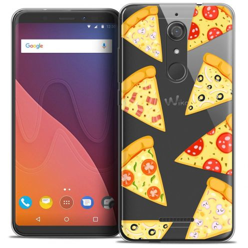 "Coque Crystal Gel Wiko View (5.7"") Extra Fine Foodie - Pizza"