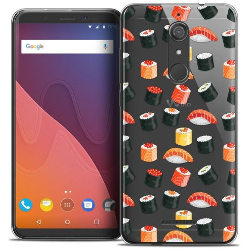 "Coque Crystal Gel Wiko View (5.7"") Extra Fine Foodie - Sushi"