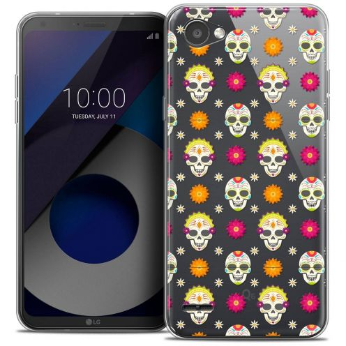"Coque Crystal Gel LG Q6 (5.5"") Extra Fine Halloween - Skull Halloween"