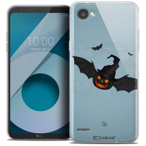"Coque Crystal Gel LG Q6 (5.5"") Extra Fine Halloween - Chauve Citrouille"