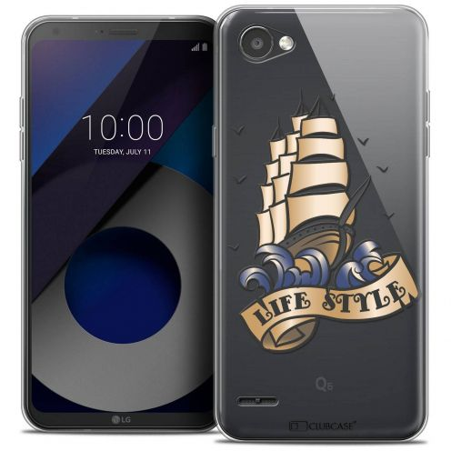 """Coque Crystal Gel LG Q6 (5.5"""") Extra Fine Tatoo Lover - Life Style"""