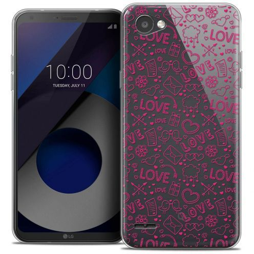 "Coque Crystal Gel LG Q6 (5.5"") Extra Fine Love - Doodle"