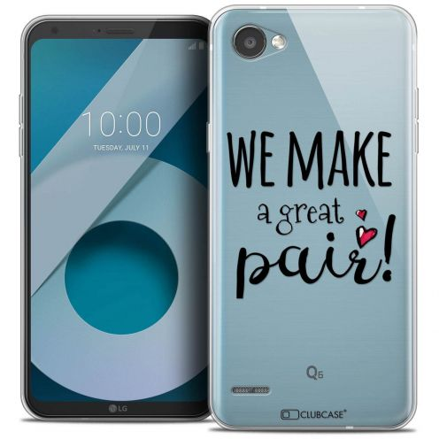 """Coque Crystal Gel LG Q6 (5.5"""") Extra Fine Love - We Make Great Pair"""