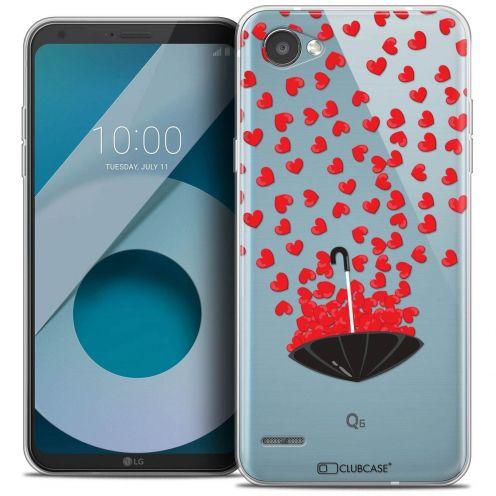 "Coque Crystal Gel LG Q6 (5.5"") Extra Fine Love - Parapluie d'Amour"