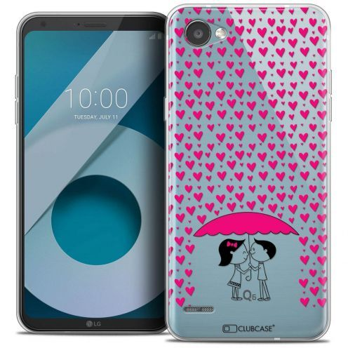 """Coque Crystal Gel LG Q6 (5.5"""") Extra Fine Love - Pluie d'Amour"""