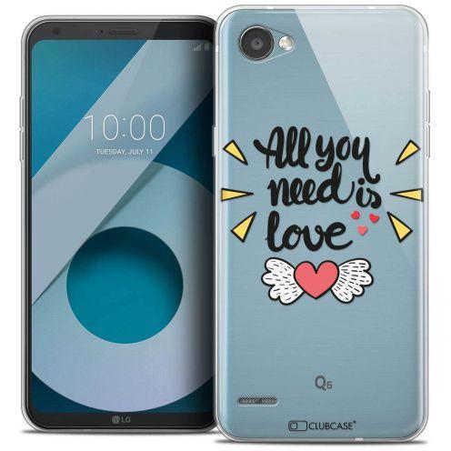 "Coque Crystal Gel LG Q6 (5.5"") Extra Fine Love - All U Need Is"