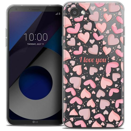 "Coque Crystal Gel LG Q6 (5.5"") Extra Fine Love - I Love You"